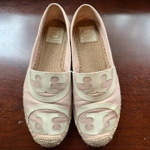 Tory Burch Poppy Espadrille Canvas/Patent Leather